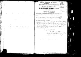 Passport Application of Camilleri Giorgio