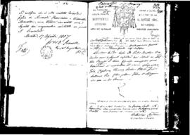 Passport Application of Recorici Salvatore