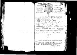Passport Application of Borg Domenico
